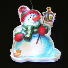 Seizis LED osvětlení s přísavkou, sněhulák