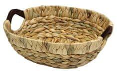 Domy ovalna košarica z lesenima ročema, vodna hijacinta