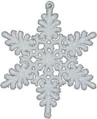 Seizis Vločka závěsná bílá 8 cm, 4 ks