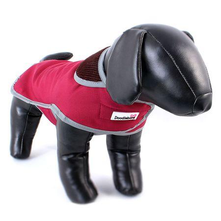 Doodlebone przeciwdeszczowy kubraczek dla psa red rozm XS