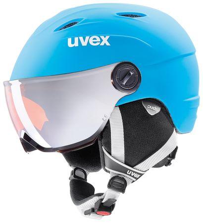 Uvex Junior Visor Pro Lite Blue/White Mat (52-54)