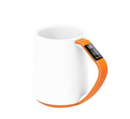 VSON CloudCUP Smart -okosbögre OLED-kijelzővel, 350 ml, narancssárga