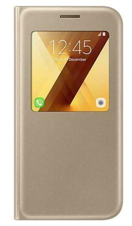 Samsung torbica S-view za Samsung Galaxy A5 2017, zlatna (EF-CA520PFE)