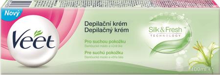 Veet Silk & Fresh Szőrtelenítő krém száraz bőrre, 100 ml