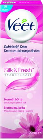 Veet Silk&Fresh depilacijska krema za normalno kožo, 100 ml