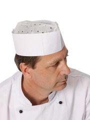 Červa Papierová kuchárska čiapka Hat (100ks) biela/modrá UNI