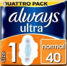Always Ultra Normal Quattro Dámske Hygienické vložky 40 ks