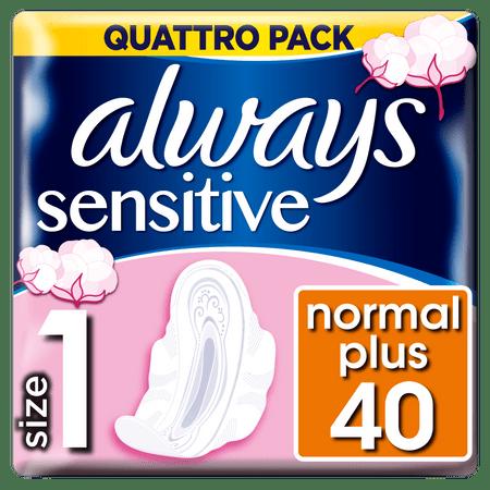 Always Ultra Sensitive Normal Dámske Hygienické vložky 40 ks