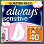 1 - Always Ultra Sensitive Normal Dámske Hygienické vložky 40 ks