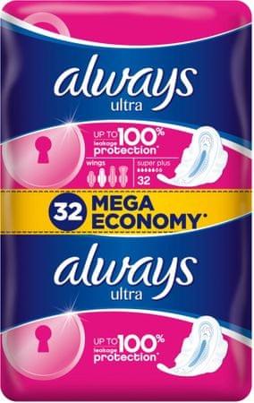 Always Ultra Super Quatro Dámske Hygienické vložky 32 ks