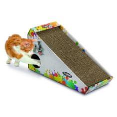 Argi kartonové škrabadlo pro kočky s hračkou a šantou