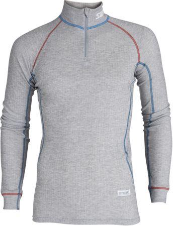 33eac6e329 Swix RaceX álló galléros póló, férfi Szürke-kék M | MALL.HU