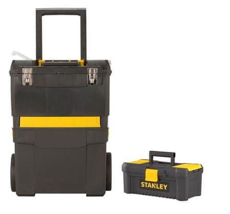 """Stanley Sada boxov: Mobilný box + box na náradie 12,5 """""""