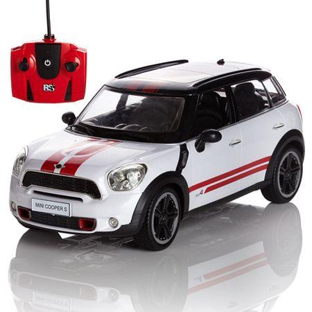 Pama avto Mini Cooper S, daljinsko voden, 1:24, bel