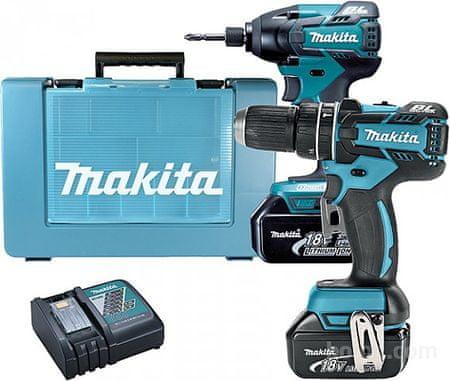 Makita set orodja DLX2002 (vibracijski vrtalnik-vijačnik + udarni vijačnik)