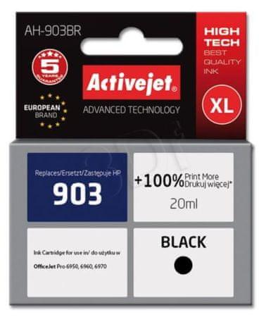 ActiveJet kompatibilna kartuša HP 903 XL, črna (T6L99AE)