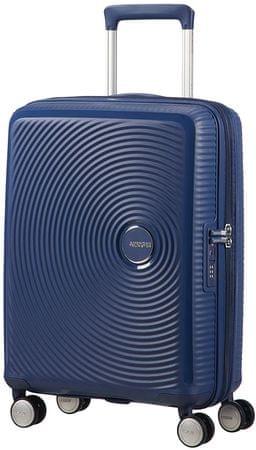 American Tourister Soundbox Spinner kabinski kovček, 55cm, TSA EXP, Navy