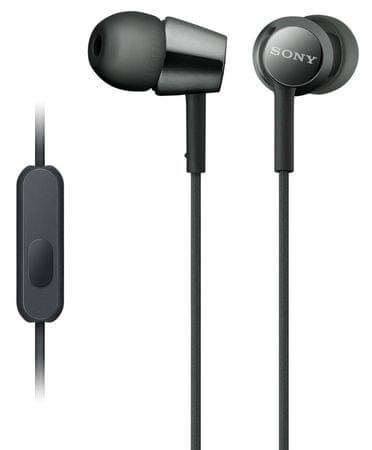 SONY MDR-EX155AP, čierna