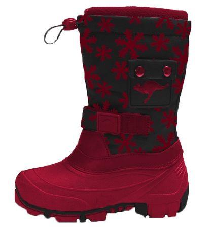 8f642ae75 KangaROOS dívčí sněhule Kanga-Bean 28 červená | MALL.CZ