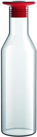 Viceversa Sklenená karafa 1L so silikónovým modrým uzáverom
