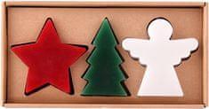 TORO Sada vianočných sviečok (stromček + hviezda + anjel)