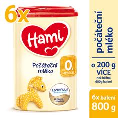 Hami 0+ počiatočné dojčenské mlieko 6x 800g