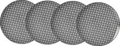Ritzenhoff&Brecker zestaw talerzy Takeo Leaves 26 cm 4 szt
