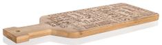 Banquet deska za rezanje BRILLANTE Bamboo, 40 x 14 x 1,5 cm, dekor