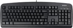 A4Tech KB-720, tenká klávesnica, CZ, USB, čierna