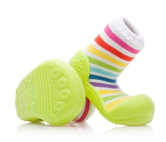 Attipas dětské botičky Rainbow Green 22,5 vícebarevná