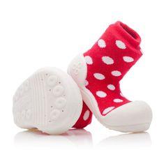 Attipas dětské botičky Polka Dot Red