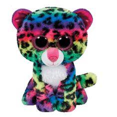 TY DOTTY mavrični leopard 42 cm