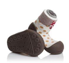 Attipas dětské botičky Zoo Brown