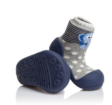 Attipas gyermek cipő Zoo navy 22,5 szürke/kék