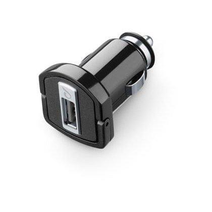 CellularLine avtopolnilec USB, 2A, črn