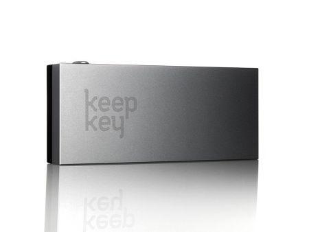 KeepKey denarnica za Bitcoin in druge kriptovalute KeepKey, aluminij, črna