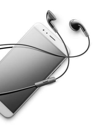 CellularLine Klasične slušalice s mikrofonom, crne
