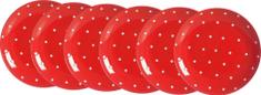 Ritzenhoff&Brecker Pinto tanier 19 cm červená, 6 ks