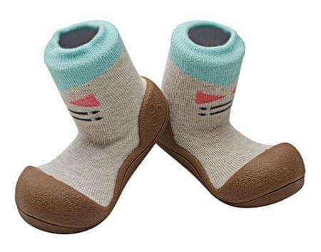 Attipas gyermek cipő Tie Brown 19 barna