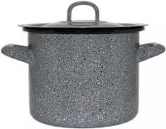Metalac Vysoký kastról s pokrievkou GASTRO 28 cm dekor kameň