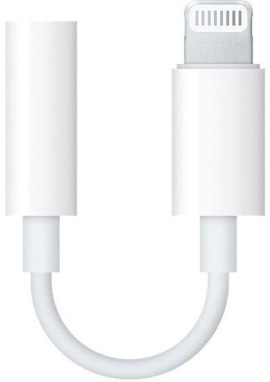Apple Lightning adaptér pro 3,5mm sluchátkový jack, MMX62ZM/A, bílý (EU Blister)