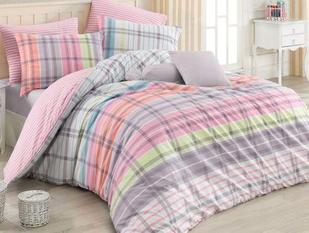 BedTex Obliečky Riva Ružové 140x200/ 70x90 cm