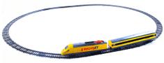Rappa Vlak žlutý RegioJet se zvukem a světlem