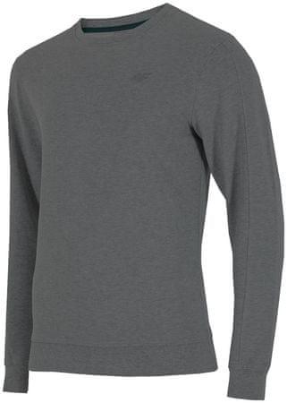 4F męska bluza H4Z17 BLM001 ciemny szary melanz S