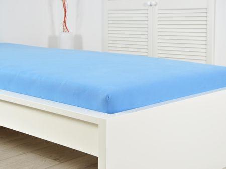 B.E.S. Petrovice prześcieradło JERSEY 180x200x25 cm blue