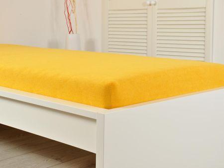 B.E.S. Petrovice prześcieradło FROTÉ 180x200x25 cm, żółte