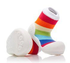 Attipas dětské botičky Rainbow White
