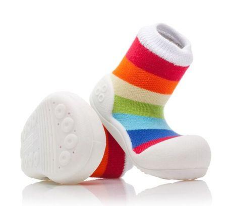 Attipas dětské botičky Rainbow White 21,5 vícebarevná