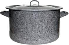 Metalac Hlboký kastról s pokrievkou GASTRO 32 cm dekor kameň