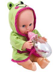 Alltoys Bábika Bambolina s kačičkou a dojčenskou fľaštičkou 33 cm